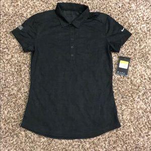 NWT Nike Gollf Dri Fit Polo Black/Dk Grey Small